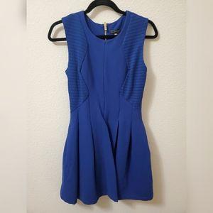 BCBGmaxazria Blue Pleated Dress